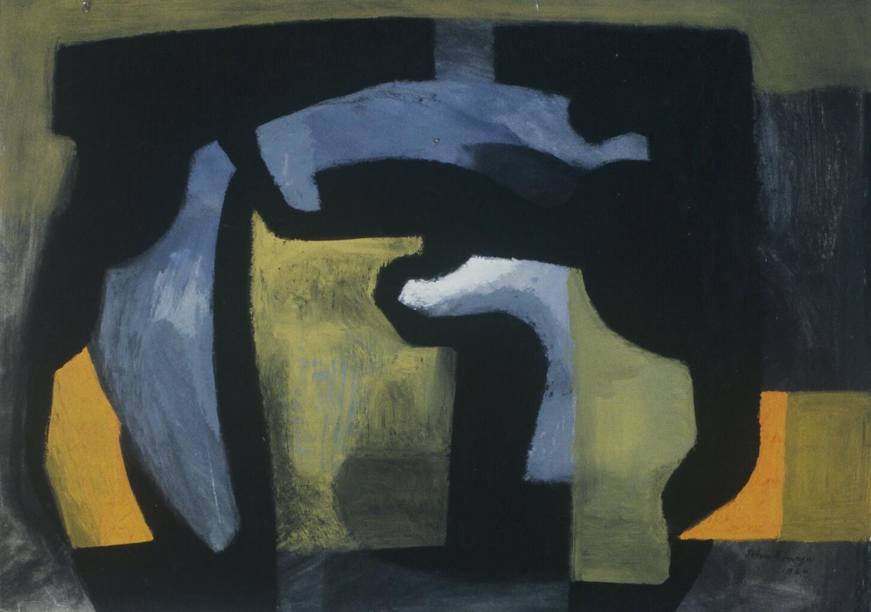 JE - Bob's small abstract, goache 1980s