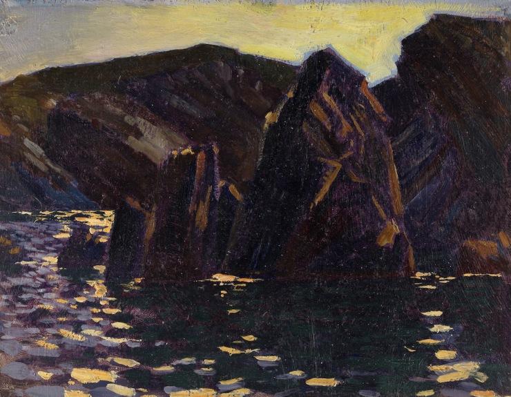Wales, Ceredigion, Llangrannog, Nocturne [RM]