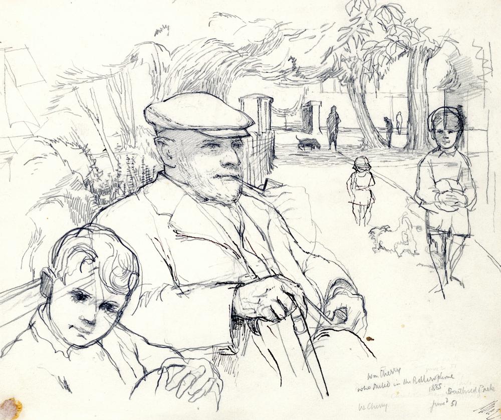 Mr Cherry, Southsea Park 1951 10 x 12