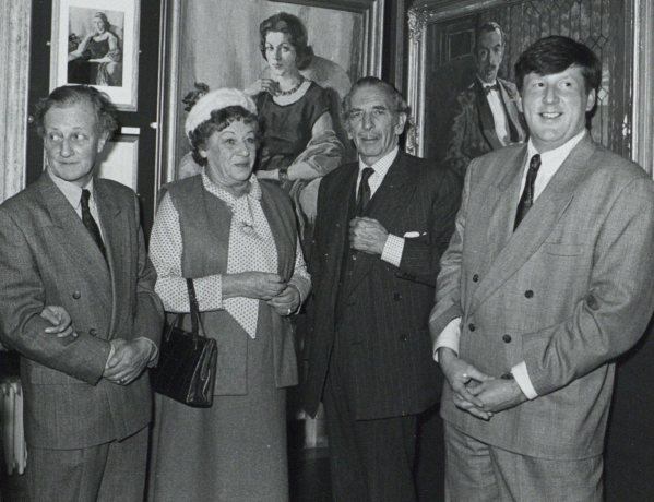 Robert Meyrick, Madeline and Berkeley Chapple-Gill and Liam Hanley 1991