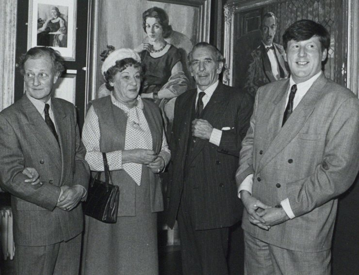 Robert Meyrick, Madeline and Berkeley Chapple-Gill and Liam Hanley 1991