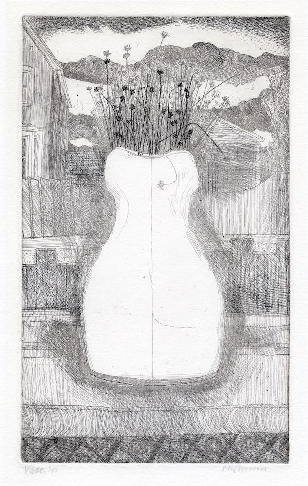 Shiela Robinson etching Vase