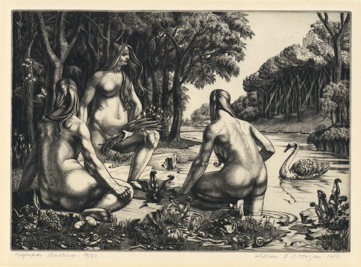 W E C Morgan - Nymphs Bathing Web