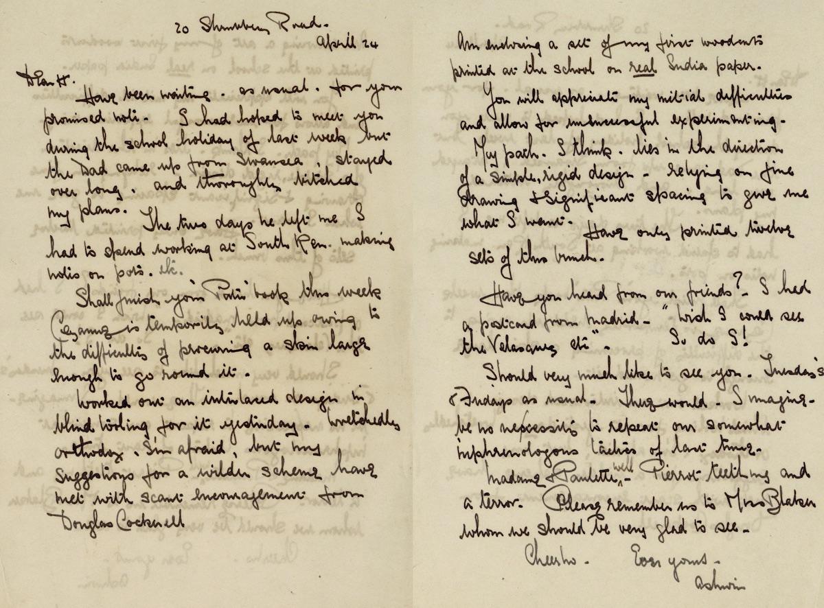 1922 Letter Maynard to Blaker Web